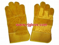 Yellow patch palm glove