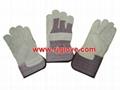 Pasted cuff full palm glove