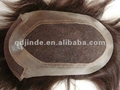 human hair Swiss lace toupee for men