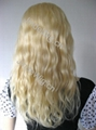 blonde European hair full lace wig with