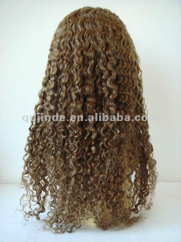 glueless deep curl silk top Brazilian hair lace wig 1