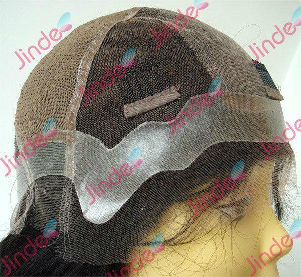 glueless deep curl silk top Brazilian hair lace wig 4