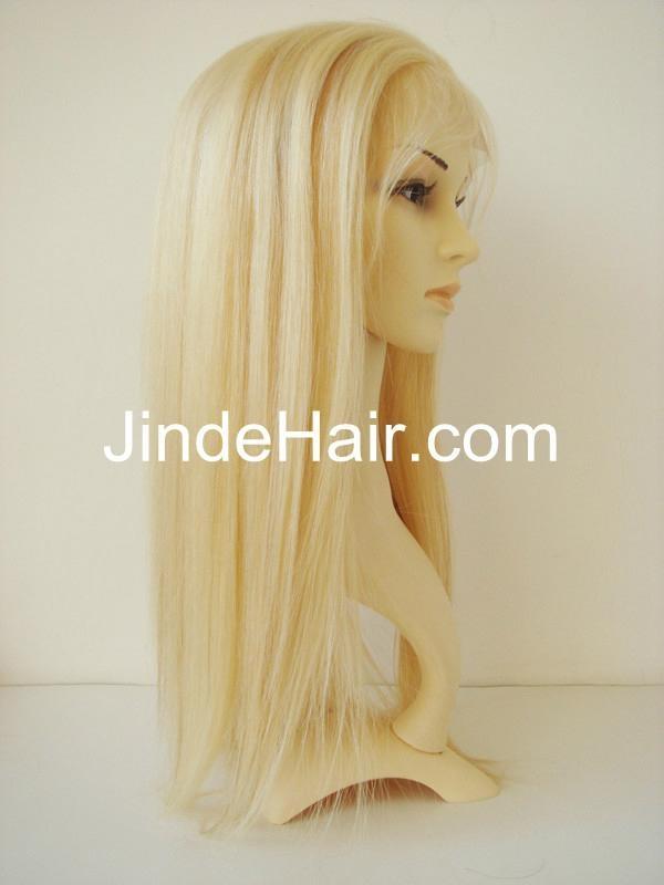 blonde thin skin around full lace wig 1
