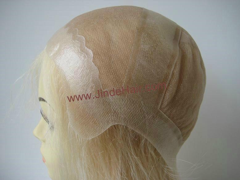 blonde thin skin around full lace wig 4