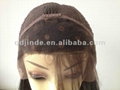 Stock brazilian kinky curl lace front wig 2