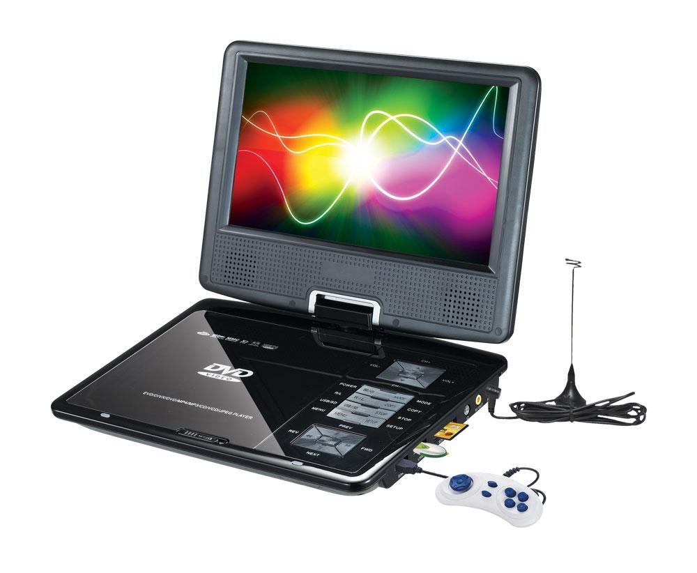 7 inch Portable DVD player with TFT LCD TV and card reader / USB port 2