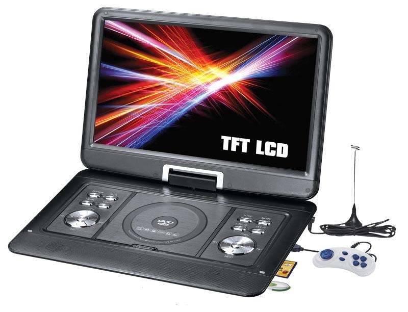 7 inch Portable DVD player with TFT LCD TV and card reader / USB port 5
