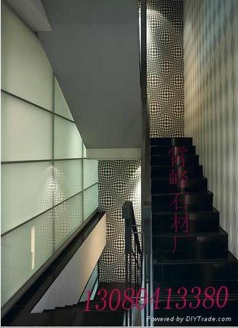 中國黑石材樓梯踏步 1
