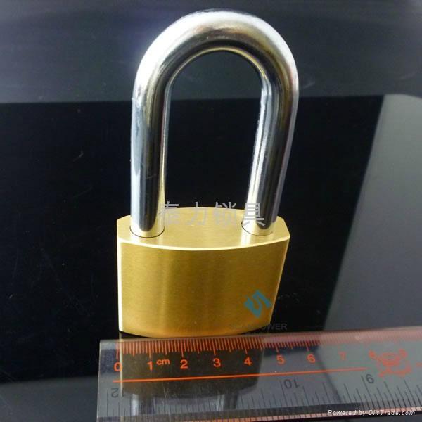 不鏽鋼鎖芯電力通開挂鎖 2