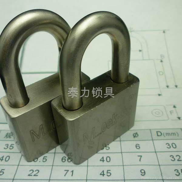 mlockss子母品牌 雙排匙不鏽鋼鋼挂鎖 3