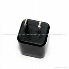 black 5v1a US USB mobile charger