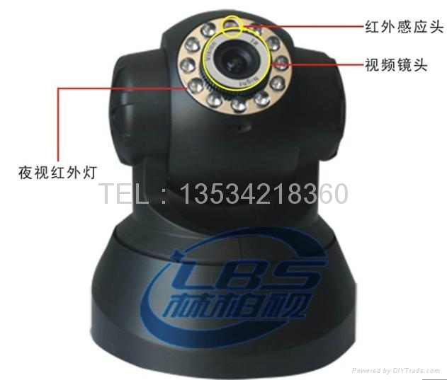 Support voice two-way mobile monitor WIFI wireless webcam 2