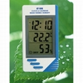 LCD Digital Thermo-Humidity Meter Alarm