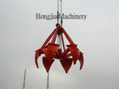 Four Ropes Orange Peel Mechanical Grab