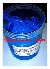 flourescent blue ink