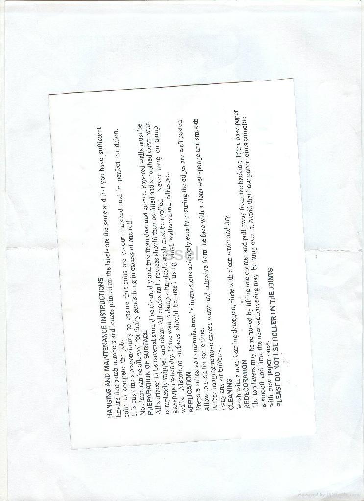 The wallpaper of PVC 3