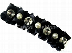 Beads with fabric hair clip