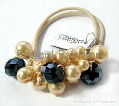 Beads ponytail