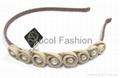Pearl with fabric flower headband