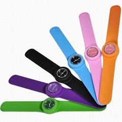 Colorful Slap watch Silicone watch wrist watch/pointer wrist watch/fashion watch