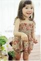Children's Dresses girl dress little flower dress + short as a set Dec.finished 4