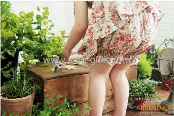 Children's Dresses girl dress little flower dress + short as a set Dec.finished 5