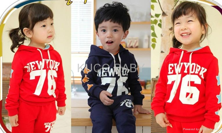 Letter Sporty Hoody Set!2012 Autumn New Baby Suits Free Shipping 5sets/lot Boys  1