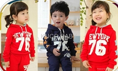 Letter Sporty Hoody Set!2012 Autumn New Baby Suits Free Shipping 5sets/lot Boys
