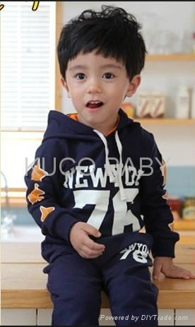 Letter Sporty Hoody Set!2012 Autumn New Baby Suits Free Shipping 5sets/lot Boys  4