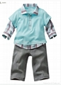 Promotions! 5sets/lot Boys 2pcs Suits T