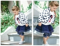 2012 Autumn New Girls Set Coat Skirts Pants 5sets/lot Girls Clothes
