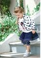 2012 Autumn New Girls Set Coat Skirts Pants 5sets/lot Girls Clothes 2