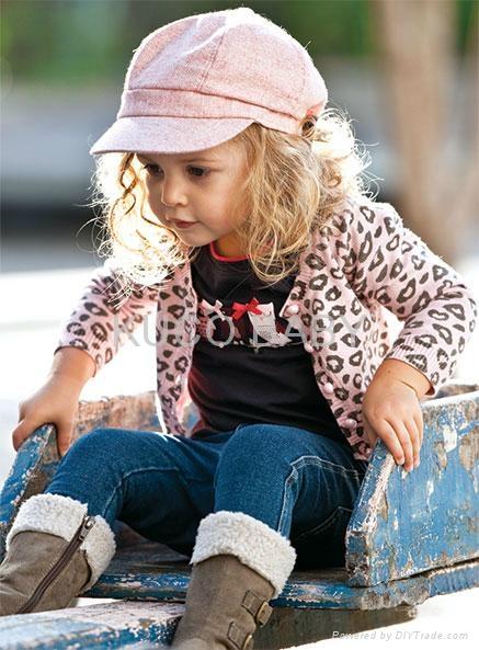 2012 New Baby Clothing 5sets/lot Baby Set 3pcs Girls Suit=T Shirt + Pants+Coat  1