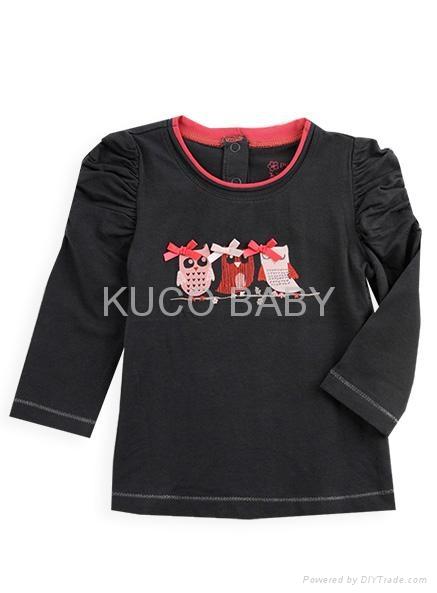 2012 New Baby Clothing 5sets/lot Baby Set 3pcs Girls Suit=T Shirt + Pants+Coat  4