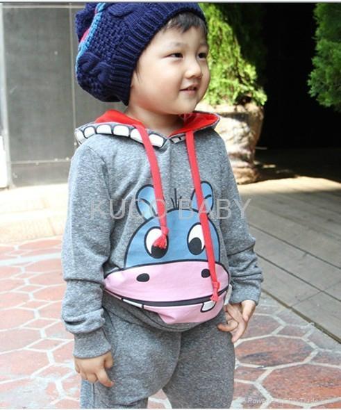 Promotions! girls boys cartoon Ox clothing sets clothes set autumn 2pcs suits 1