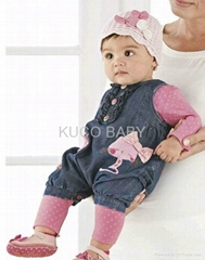 5sets/lot Girls Suits Longsleeve T Shirt+ Leggings+ Jeans Romper