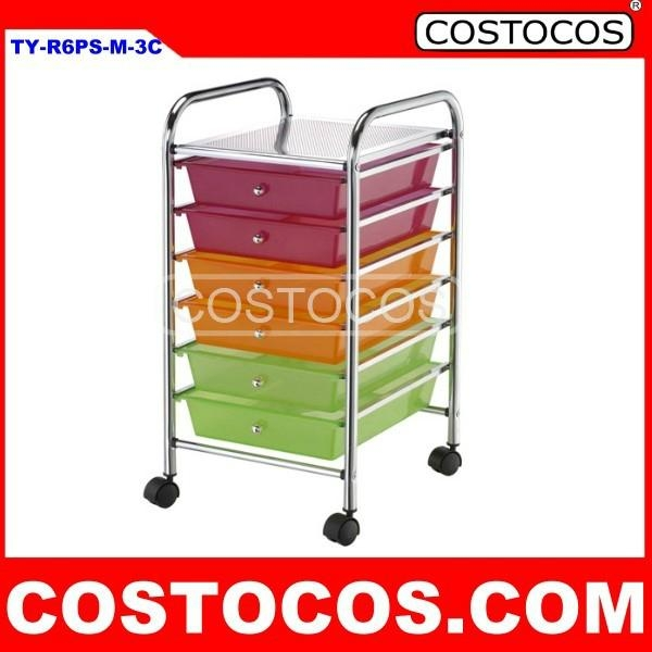 Multi Color 6 Drawer Trolley /Storage Cart 1 ...