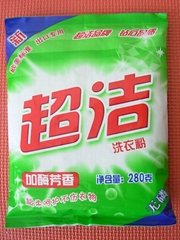 自有品牌超潔280克洗衣粉