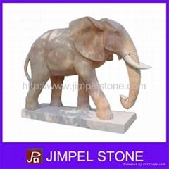 Stone Elephant Sculpture
