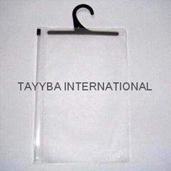 Clear pvc packing bag with zipper closer