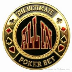 metal poker chips