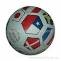 rubber soccer ball