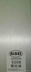 氧化銀拉絲鋁板