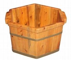 wooden foot basin