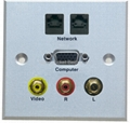 86mm*86mm AV HDMI wall plate with