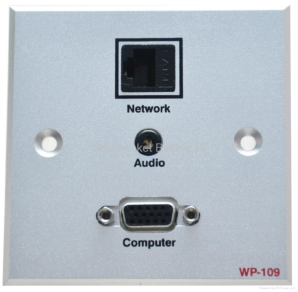 86mm*86mm AV HDMI wall plate with multi-media connectors 5