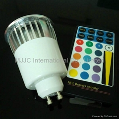 5W RGB GU10 LED Spotligh
