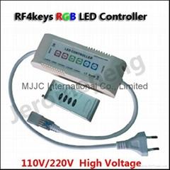 110V-220V 10keys RF RGB Remote Controller for 220V RGB LED Strip Light