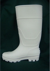 white pvc  rain boots  for food .hospital industry