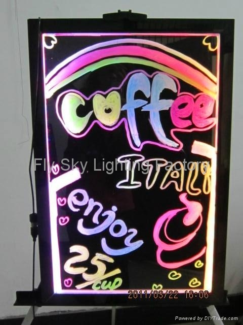Flashing LED Writing board; LED Advertising Board(30*40cm) for sales promotion 1